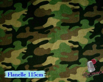 Flannel, Army, green, brown, many yards will be cut as one piece, Flannel 100% high quality cotton