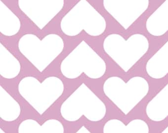 White heart, pink background, XOXO, 21190707, col 03, Camelot Fabrics, cotton, cotton quilt, cotton designer