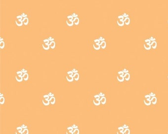 Om, orange, Omstoppable Collection, 21191608, col 01, Camelot Fabrics, 100% Cotton, (Reg 3.76-21.91)