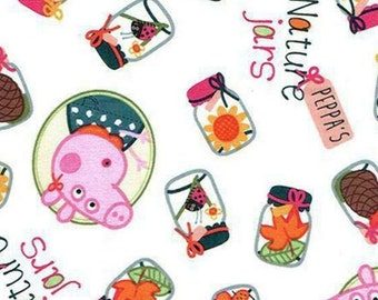 Peppa Pig, Nature Jars, Springs Creatives, CP64659, 100% Cotton, quilt cotton