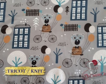 COUPON, Poly / spandex jersey, knit, 95 polyester, 5 spandex, stretch fabric, garment fabric, 58/60 wide, Babyish, gray, (Reg 7.07-22.05)