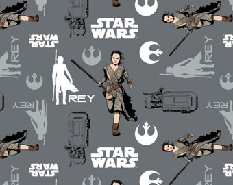 Star Wars, Rey, The force awakens, 7360104, col 02, Camelot Fabrics, cotton, cotton quilt, cotton designer