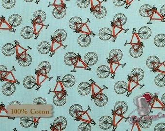 Bike, Happy Camper, by City Art Studio, 1337, Henry Glass & Co, multiple quantity cut in 1 piece, 100% Cotton, (Reg 3.99 -17.99)
