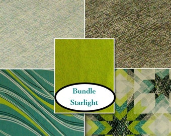 5 prints, Starlight, by Katia Hoffman, Windham Fabrics, 1 of each print, 100% Cotton