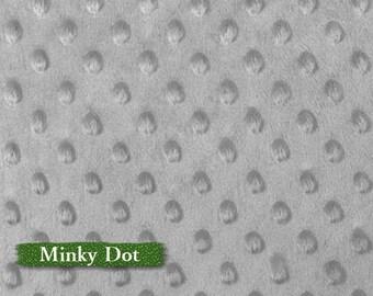 Minky Dot, Gray, 100% polyester, 60 inch, 150cm,