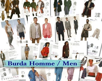 50%, 13 models, (Reg 8.99 -14.99), Burda, Man, liquidation pattern, new, uncut,
