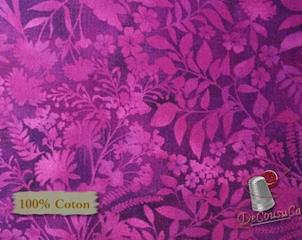 Flower Violet, Aflutter, Elizabeth Isles, Studio e, 3912, multiple quantity cut in one piece, 100% Cotton