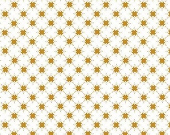 Christmas Adventure, Riley Blake Designs, Christmas fabric 100% cotton, snowflake, #10735 WHITE