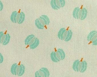 Pumpkin, turquoise, white, 66180203, col 01, Autumn Impressions, Camelot Fabrics, cotton, cotton quilt, cotton designer