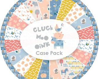 Bundle, 12 prints, Cluck, Moo, Oink, Camelot Fabrics, quilt cotton