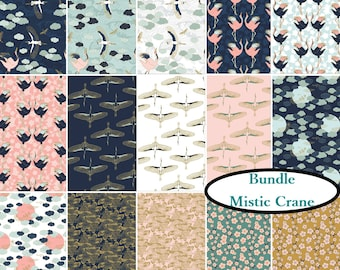 Bundle, 15 prints, Mistic Crane, Camelot Fabrics, 100% cotton