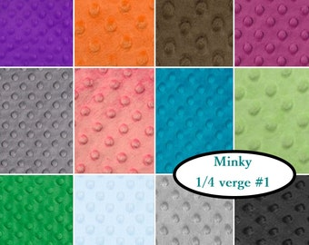 "12 X 1/4 verge, (9""X60""), Minky Dot, 100% polyester, for quilt, or littles projects"