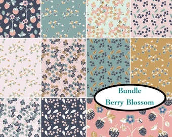 Bundle, 11 prints, Berry Blossom, Camelot Fabrics, Bundle, 1 of each print