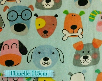 Flannel, Dog, A.E. Nathan Comfy Flannel, many yards will be cut as one piece, Flannel 100% high quality cotton