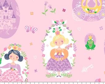 Princesses, Once Upon a Time, 91190201, col 01, Camelot Fabrics, cotton, cotton quilt, cotton designer