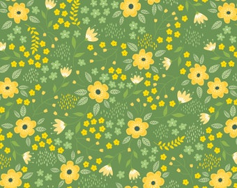 Bright Side, flower, 2240903, col 02, Camelot Fabrics, multiple quantity cut in 1 piece, Cotton