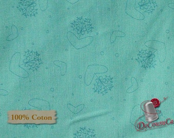 Turquoise, Basicatly Hugs, 25040, Red Rooster, 100% Cotton