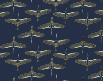 Birds, 29180203, col 01, Mistic Cranes, Camelot Fabric, quilt cotton