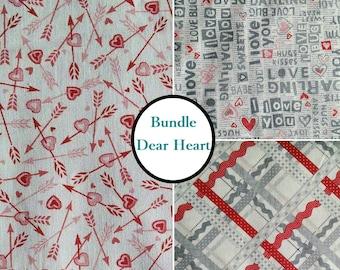 3 prints, 1 of each, Heart, Dear Heart, Studio e, 100% cotton, (Reg 11.97 - 53.97)