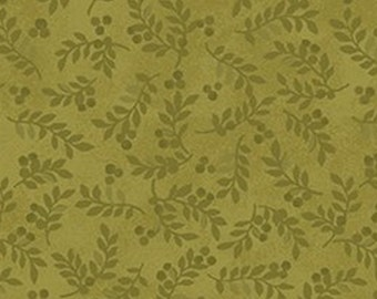 Leaf, green, Harvest Berry, Benartex, 07563, col 43, cotton, cotton quilt, cotton designer