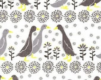 Quack, grey, yellow, white, Village Life, 30180106, Camelot Fabrics, 100% Cotton