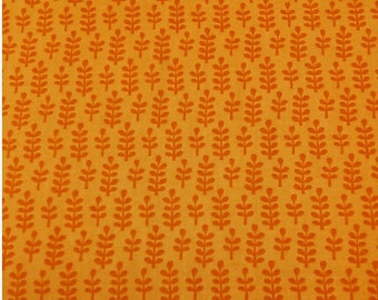 Leave, orange,  Happy jungle, by Alison Cole, Camelot Cotton, Multiple quantity cut in one piece