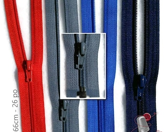 YKK, 66cm, zipper, (26 inchs), varied color, nylon, perfect for clothing, repair, creation, Z58