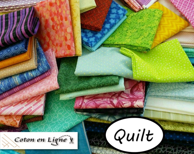 Featured listing image: SUPER DEAL, 100% cotton coupons, various sizes, various designs, Designer cotton, photo as an example