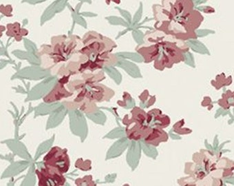 Flower, Dorothea, Laura Ashley, The Hunterhill, 71180101, col 02, Camelot Fabrics, 100% Cotton, (Reg 2.99-17.99)