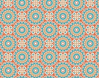 Marrekech, orange, turquoise, Boho Happy, Patrick Lose, 100% Cotton