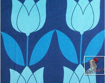 Tulip, blue, Michael Millers Fabrics, Michael Millers Fabrics, 6842, multiple quantity cut in one piece, 100% Cotton, (Reg 2.99 - 12.99)