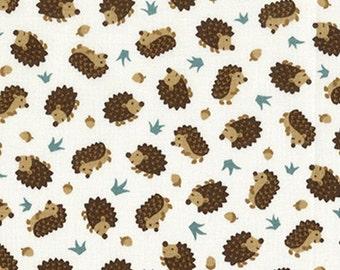 Porcupine, white, Camp-a-Long, Studio E, 4008, multiple quantity cut in one piece, 100% Cotton