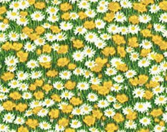 Mini Flowers, Village Life, 2297, Makower, cotton, cotton quilt, cotton designer