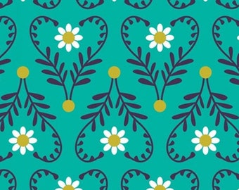 Wild at Heart, aqua, 18180105, col 01, Springs Birds, Camelot Fabrics, 100% Cotton, (Reg 2.99-17.99)