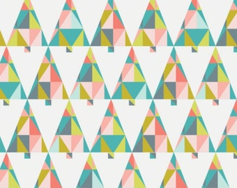 Triangle, trees, multi, 61170105, Oh What Fun, Camelot Fabrics, multiple quantity cut in one piece, 100% Cotton, (Reg 3.99 - 17.99)