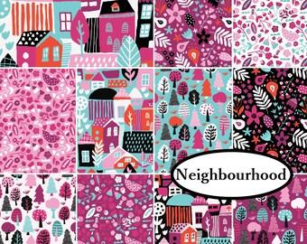 11 prints, Bundle, Neighbourhood, Camelot Fabrics, 1 of each print,