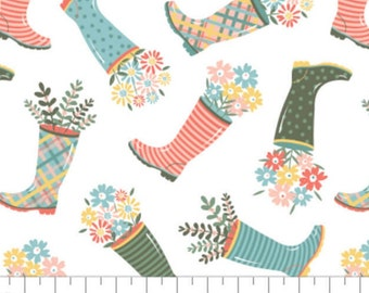 Rain boot, Wish for Rain, 89191002, col 01, Camelot Fabrics, 100% Cotton