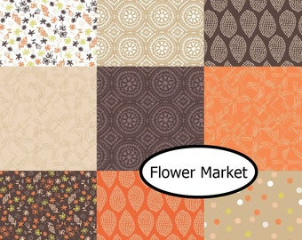 Bundle, 9 designs, Flower Market, Camelot Fabrics, 100% cotton