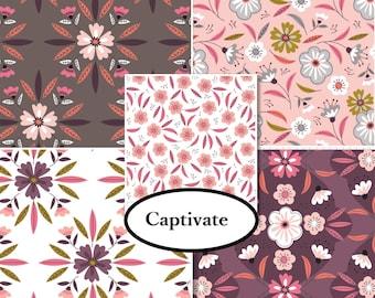 VENTE, Kit 5 prints, Captivate, Camelot Fabrics