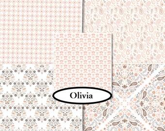 5 prints, 1 of each, Olivia, Camelot Fabrics, 100% cotton