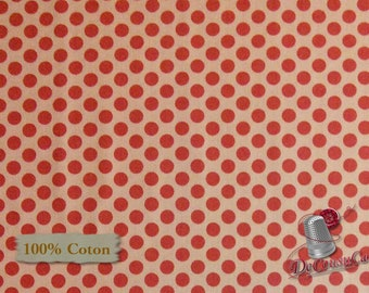 Dot pink, Dear Heart, Studio e, 3595, multiple quantity cut in one piece, 100% Cotton