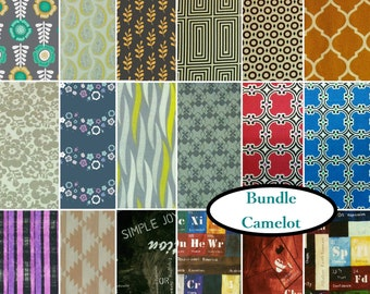 "18 FQ, 1/4 yard, 1/2 yard, FE = 9""X22"", 1 of each,Camelot Fabrics, 100% cotton"