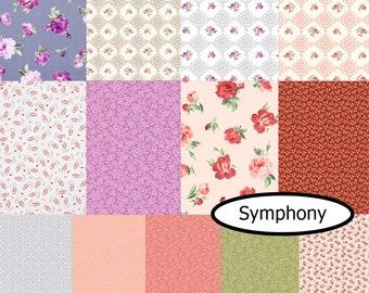 Bundle, 13 prints, Symphony, Andover, 1 of each print,