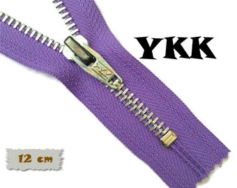 YKK, 12cm, Violet, Zipper, Cursor 5, 4 3/4 Inch, Metal, Zipper, Non-Detachable, vintage, 1980, Z16