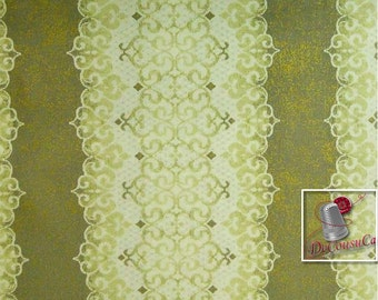 Downtown Lace, by Sasha K Studio, EBI Fabrics, gold, fat quarter, half-yard, by the yard, 100% Cotton