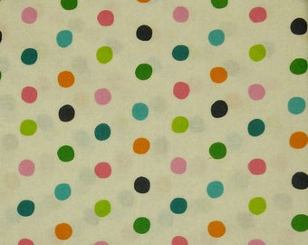 Dots, white, Édition Fabric, multiple quantity cut in one piece, 100% Cotton