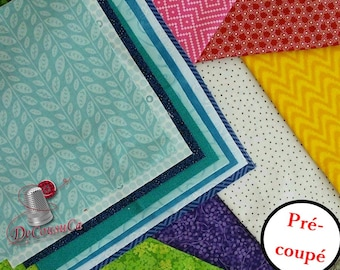 10 random squares, tone on tone, little prints, 100% cotton, for rags quilts, different colors available, perfect for Rag Quilt