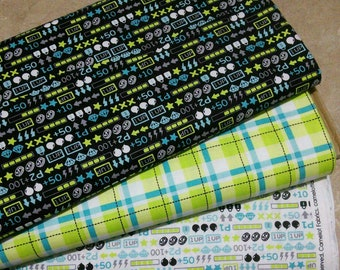 Bundle 3 prints, Game On of Camelot Fabrics