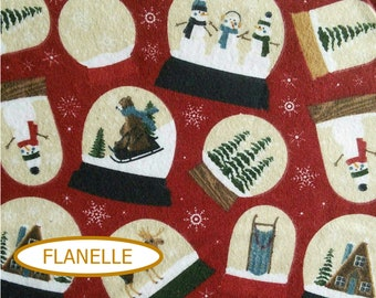 Flannel, Snowman, Let it snow, 7770, Riley Blake,multiple quantity cup in a pièce, Flannel 100% high quality cotton