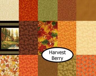 25%, Bundle, 15 prints, Harvest Berry, Benartex, cotton, (Reg 56.40-165.15)